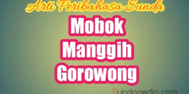 Arti Mobok Manggih Gorowong