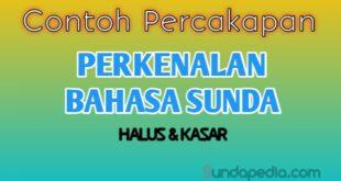 Contoh percakapan perkenalan bahasa Sunda