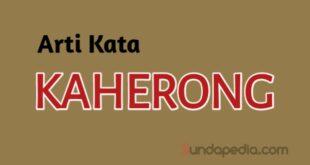 Arti Kata Kaherong dan contoh kalimatnya