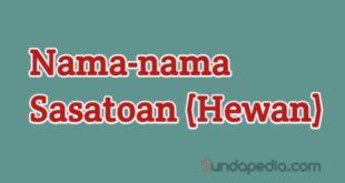 Nama nama hewan (sasatoan) bahasa Sunda