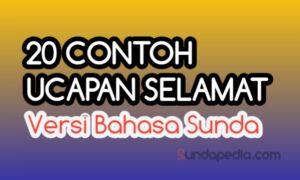 Ucapan selamat versi bahasa Sunda