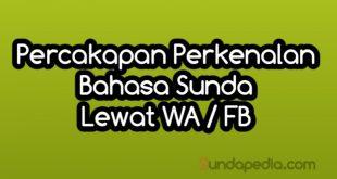 Perkenalan di WA FB dengan Bahasa Sunda