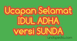 Ucapan selamat Idul Adha Bahasa Sunda