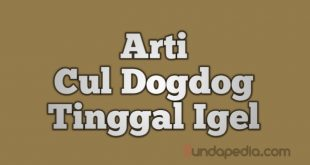 Arti Cul Dogdog Tinggal Igel