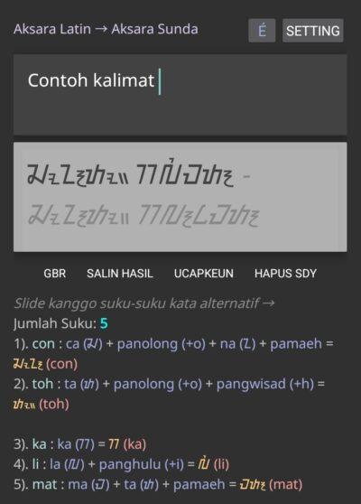 Aplikasi Android Konversi Aksara Sunda Kaganga