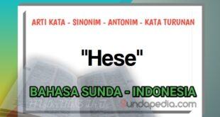 Arti kata hese kamus bahasa Sunda