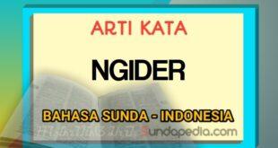 Arti kata ngider bahasa Sunda