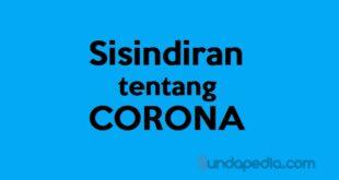Contoh Sisindiran Tentang Corona