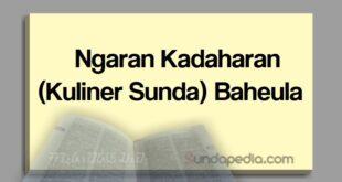 Ngaran kadaharan atau kuliner Sunda baheula