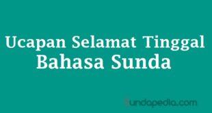Ucapan selamat tinggal bahasa Sunda