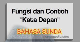 Fungsi dan contoh kata depan bahasa Sunda