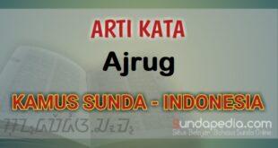 Arti Kata Ajrug dalam Kamus Bahasa Sunda online