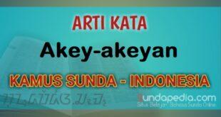 Arti Kata Akey-akeyan dalam Kamus Bahasa Sunda Online