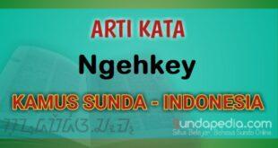 Arti Kata Ngehkey dalam Kamus Bahasa Sunda Online