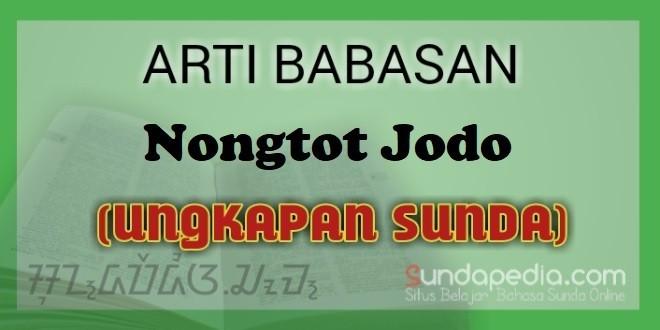 Arti Nongtot Jodo dalam Kapamalian