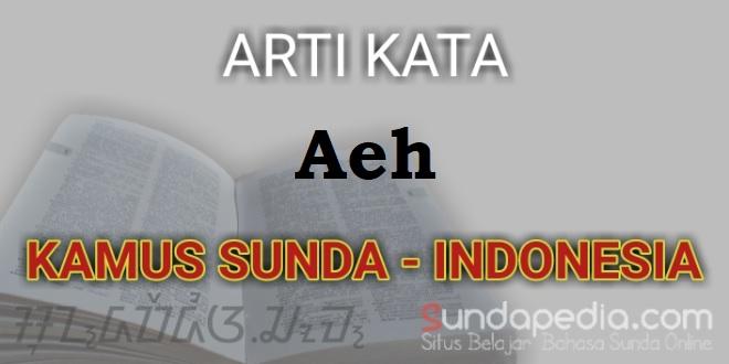 Arti kata Aeh dalam kamus bahasa Sunda online