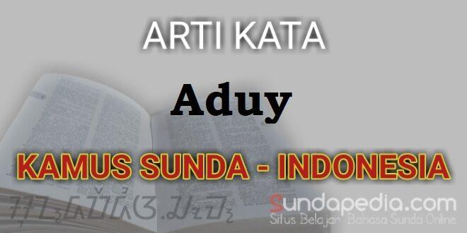 Arti Kata Aduy dalam Kamus Bahasa Sunda Online – SundaPedia.com