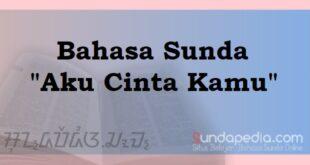 Bahasa Sundanya Aku Cinta Kamu