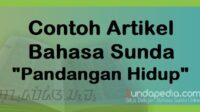 Contoh Artikel Bahasa Sunda tentang Falsafah Urang Sunda