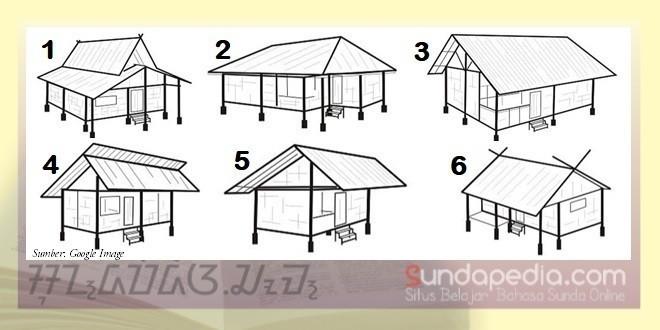 Gambar atap atau suhunan rumah adat sunda