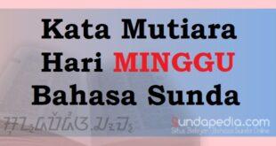 Kata-kata Mutiara Hari Minggu Bahasa Sunda penuh motivasi
