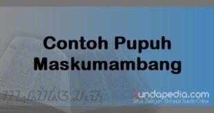 Patokan dan Contoh Lirik Pupuh Maskumambang Sunda plus Artinya