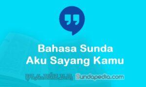 Bahasa Sundanya Aku Sayang Kamu dan Jawabannya