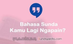 Bahasa Sundanya Kamu Lagi Ngapain dan Jawabannya