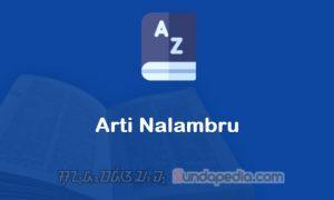 Arti Kata Nalambru dalam Kamus Bahasa Sunda