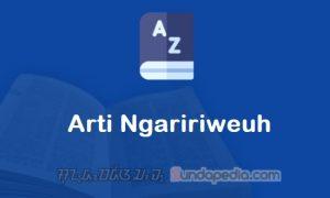 Arti Kata Ngaririweuh dalam Kamus Bahasa Sunda