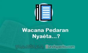 Pengertian Wacana Pedaran Bahasa Sunda Nyaeta