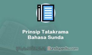 Prinsip Tatakrama Bahasa Sunda
